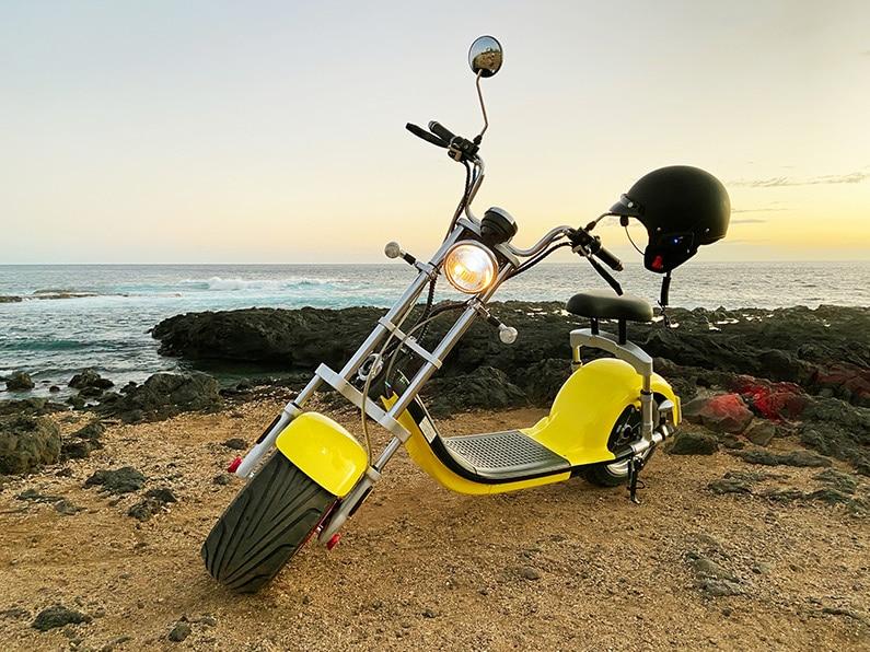 Woolib scooter électrique Chopper One jaune
