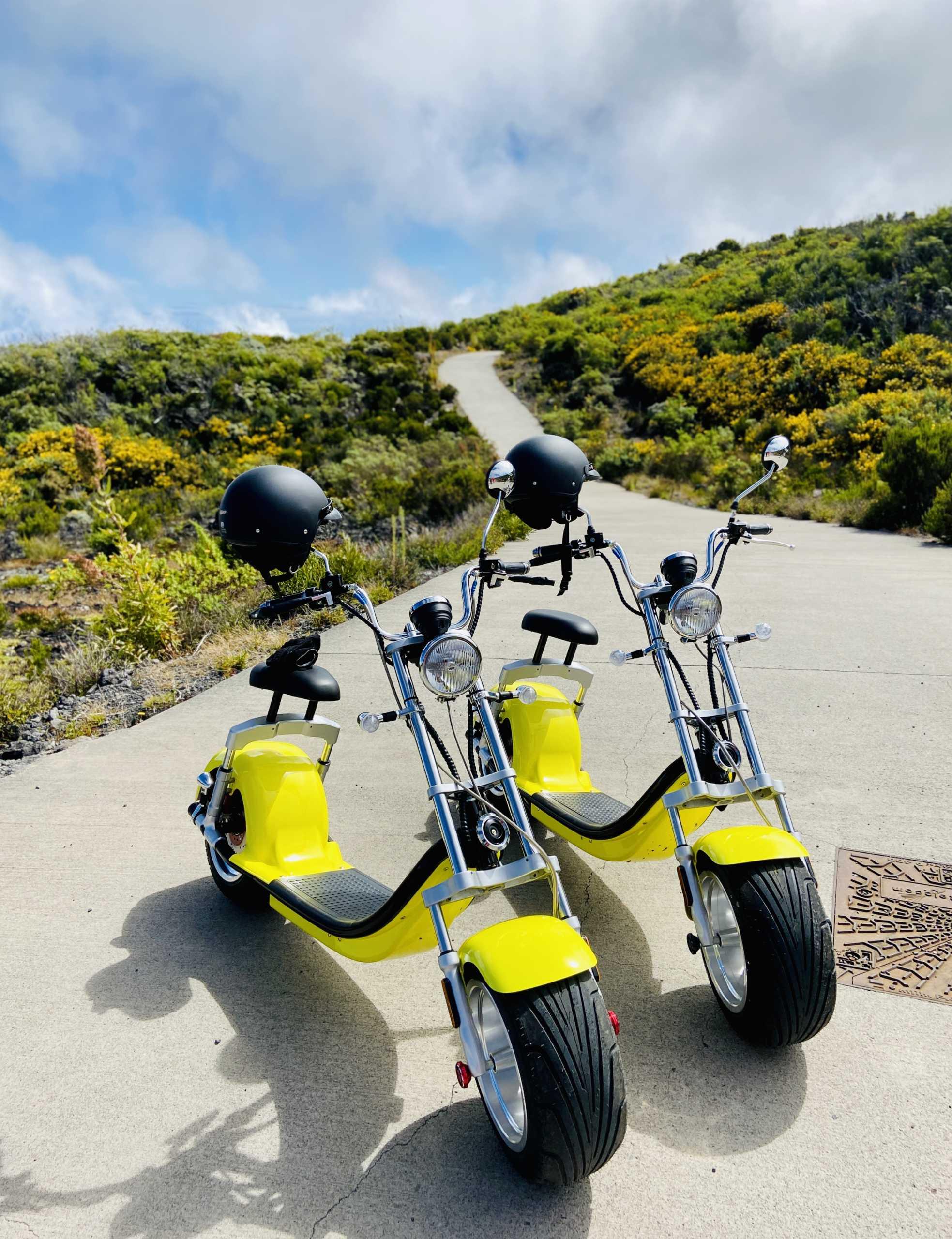 Les scooters électriques de Woolib-Run au Maïdo