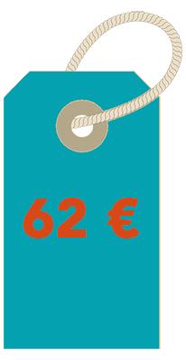 prix 62€
