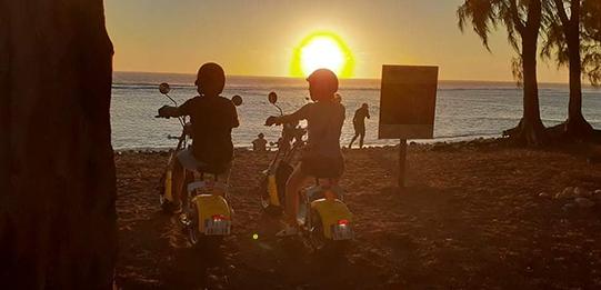 Woolib-Run : Coucher de soleil sur la plage de Saint Leu