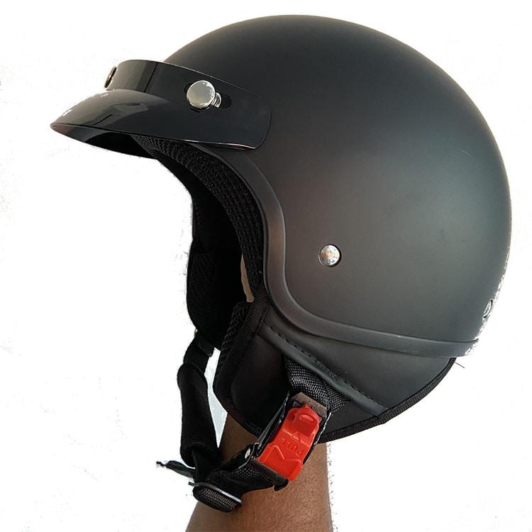 casque jet vintage profil
