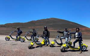Eco-tour Volcan : l'équipe Petit Piaf