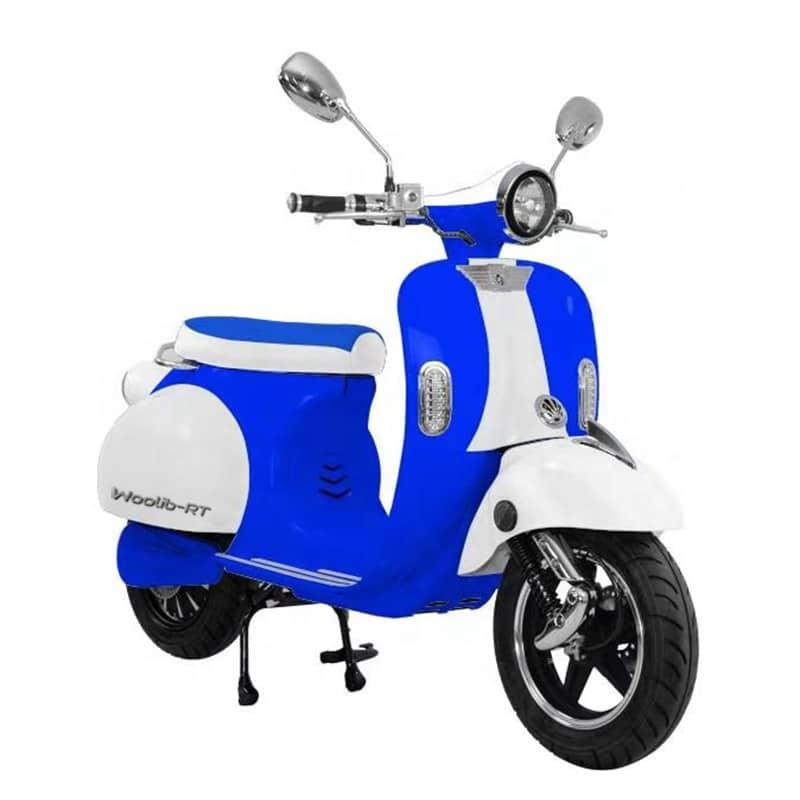 Woolib RT bicolore bleu klein/blanc